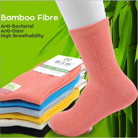 Comfortable, Anti-Bacterial, Anti-Odor, Bamboo Fiber Socks