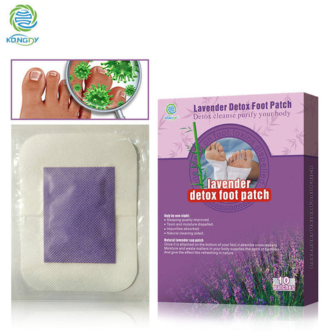LAVENDER BAMBOO FOOT PATCHES FOR DETOX AND SLEEP