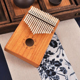 17 Key Kalimba African Solid Wood Mahogany Thumb Finger Piano