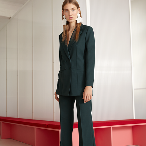 Radient Jacket Pant Suits Pant Blue Pant Suits Formal Ladies Office Ol Uniform Designs Women Elegant Business Work Wear Jacket With Trousers Sets