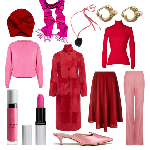 Faire Mode in Pink und Rot