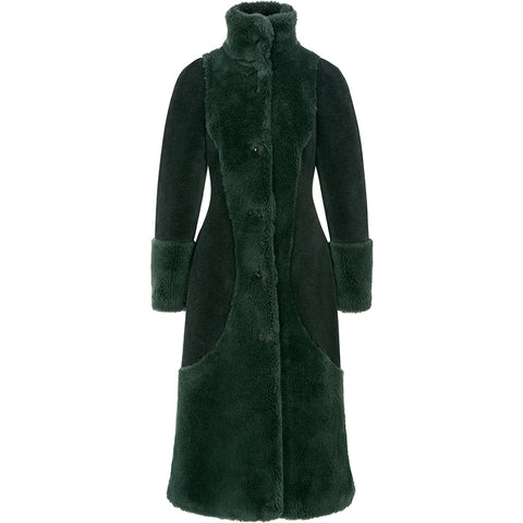 FASSBENDER coat, lambswool, green, women, sustainable, empowerment