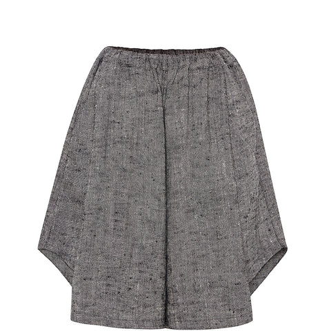 LEINEN SHORTS IN GRAU