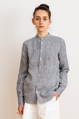 AGNES NORDENHOLZ Gestreiftes Leinenhemd für Damen, handmade, fair, made in Europe, eco-friendly - the wearness online-shop