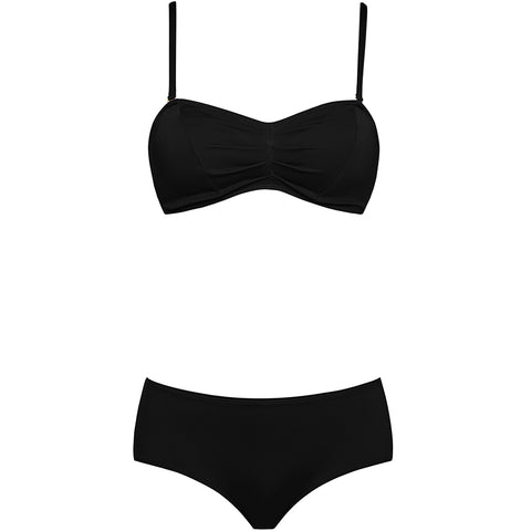 1-9-7-9 SWIMWEAR, Bikini, black, sporty, figur schmeichelnd, vintage, Bademoden, Damen Bademoden, veganer Bikini, fair, organic, vegan, made in Europe, shop now- the wearness onlineshop