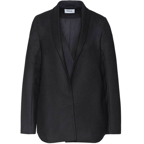 NOVE Schwarzer Blazer in Schwarz aus Schurwolle für Damen, Moderne Umstandsmode, fair, eco-friendly, women empowerment, made in Europe - the wearness online-shop