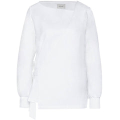 NOVE Weiße Bluse aus Bio-Baumwolle für Damen, Moderne Umstandsmode, fair, made in Europe, women empowerment, eco-friendly - the wearness online-shop