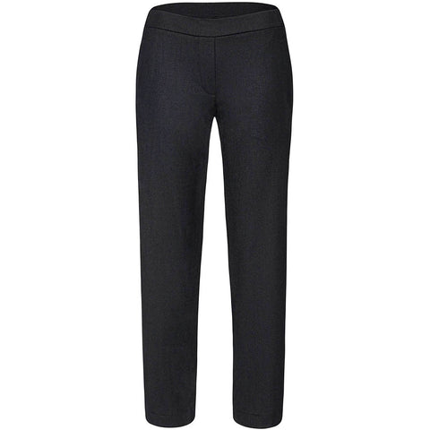 NOVE Hose aus Schurwolle mit elastischem Bund in Schwarz für Damen, fair, made in Europe, eco-friendly, women empowerment - the wearness online-shop