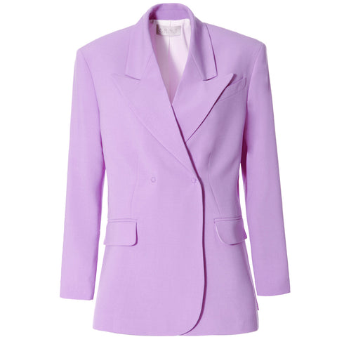 AGGI Blazer für Damen, Oversized Blazer, Blazer für Frauen, Breiter Reverskragen, Stark konturierte Arme, Women clothing, made in Europe, Eco-friendly, fair, fair trade - shop now - the wearness online-shop - Sustainable and Ethical Luxury Fashion
