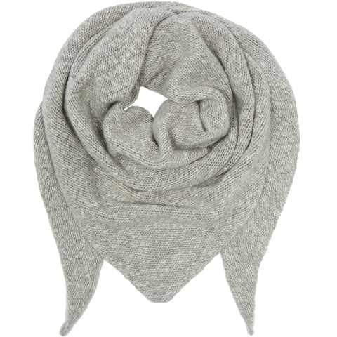 PETIT CALIN: TRIANGLE SCARF DUSTY MELANGE, CASHMERE - the wearness