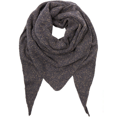 PETIT CALIN: TRIANGLE SCARF MELANGE, CASHMERE - the wearness