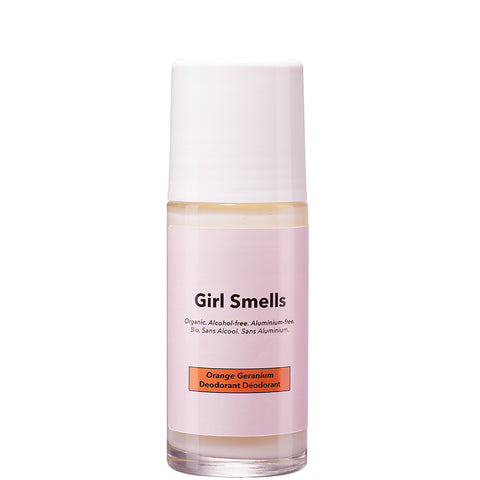 GIRL SMELLS Deo Roller ohne Alkohol und Aluminium, Geranien Duft, Vegan, organic, eco-friendly, made in Europe, female Empowerment - the wearness online-shop
