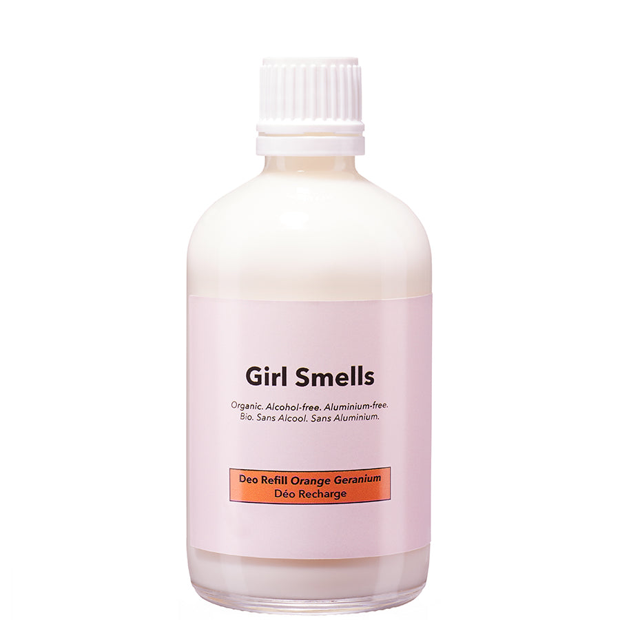 GIRL SMELLS Deo Naachfüllpackung, Geranien Duft, vegan, organic, eco-friendly, female empowerment, made in Europe - the wearness online-shop