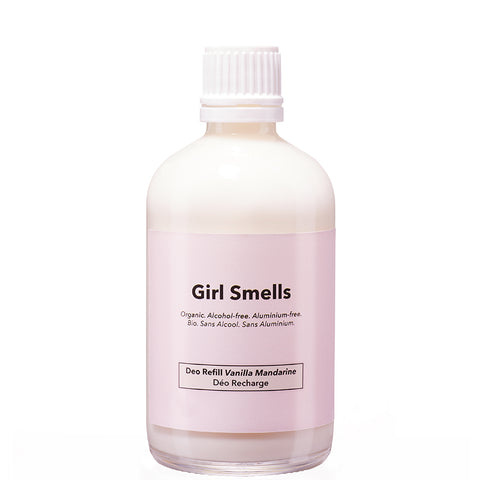 GIRL SMELLS Deo Naachfüllpackung, Vanille und Mandarinen Duft, vegan, organic, eco-friendly, female empowerment, made in Europe - the wearness online-shop
