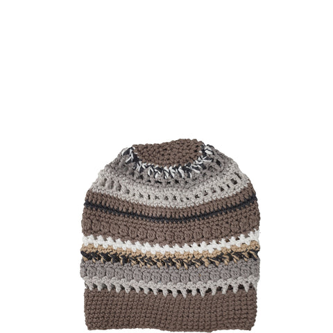 CLAUSSEN - HANDCROCHETED HAT IN EARTH COLOURS  - the wearness
