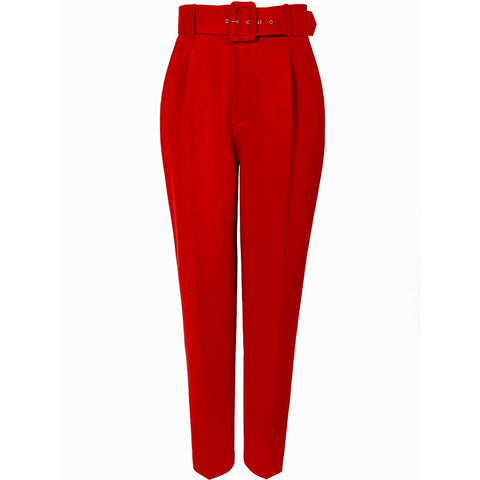 AGGI HIGH-WAISTED PANTS, TRUE RED, WOMEN, ECO-FRIENDLY - the wearness
