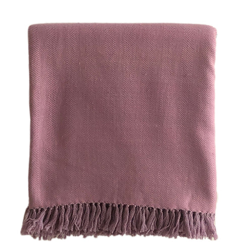 8 EDEN AVENUE cashmere/merino blanket, rosé, women, sustainable
