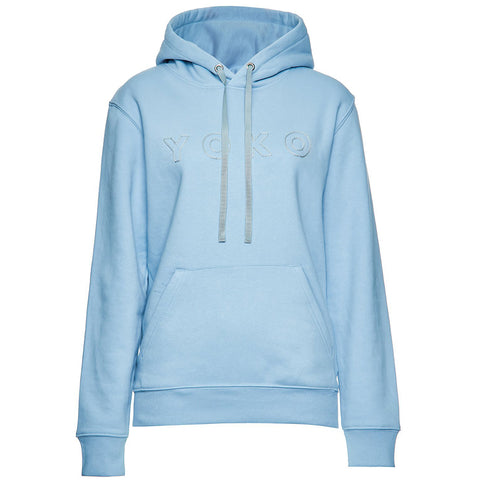 LILLY INGENHOVEN Statement Hoodie mit Stickerei auf der Vorderseite, Sweater in Himmelblau, Handcrafted, made in Europe, Organic, Eco-friendly, fair - Shop now - the wearness online-shop