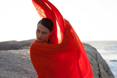 Casa Nata – Poncho SPLIT COVER IN ORANGE – The Wearness