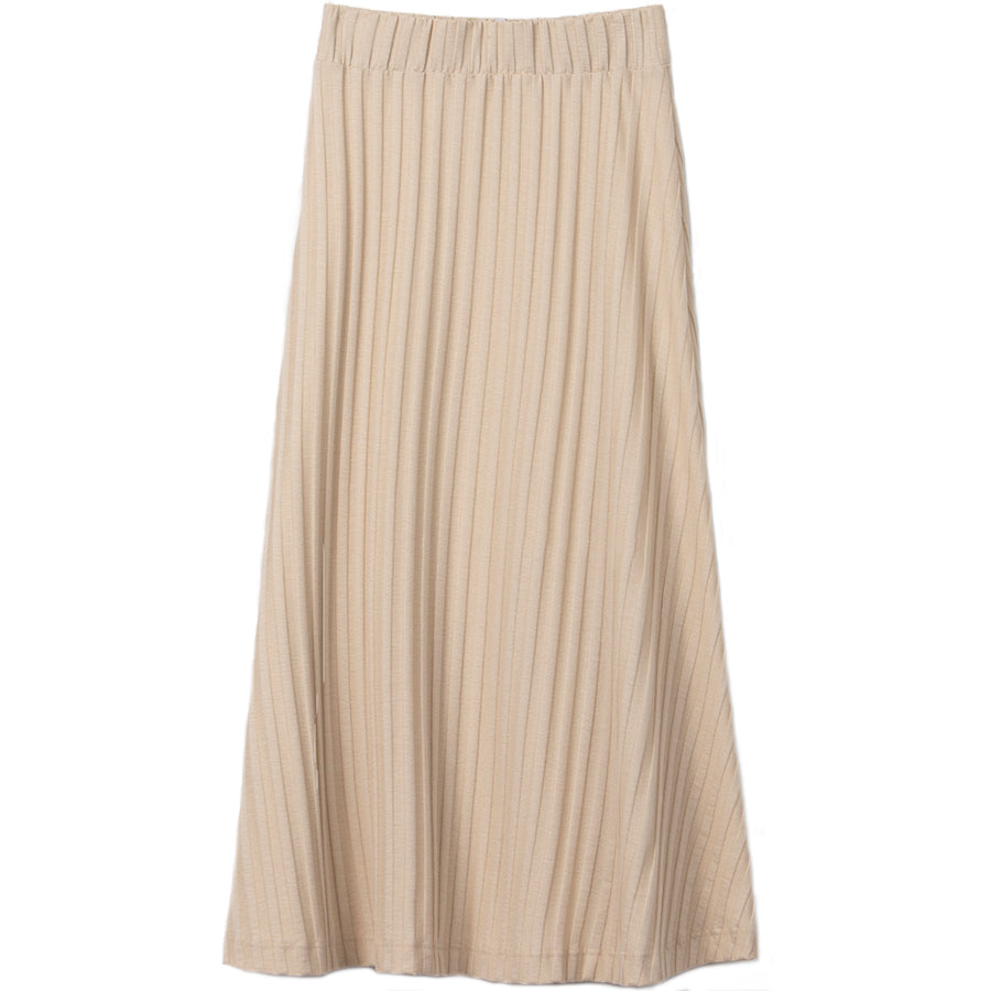 LIAPURE Gerippter Midi-rock in beige, Damenröcke, Women skirt, Homewear, Loungewear, Nachhaltige Damenmode, Nachhaltige und Faire Mode online - the wearness online-shop