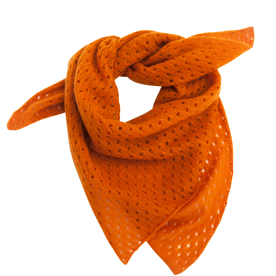 PETIT CALIN CASHMERE LACE SAMPLER IN ORANGE - the wearness