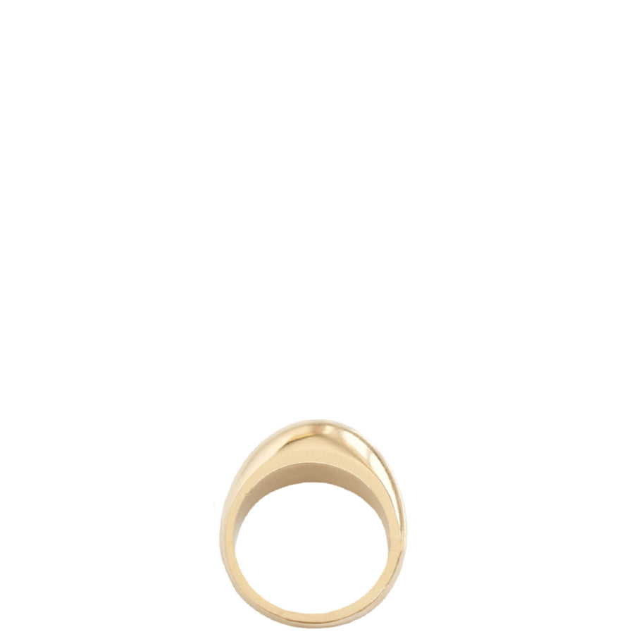 NOVE Curved gold-plated ring | recycled gold, fair, handmade, made in Germany, vegan - the wearness