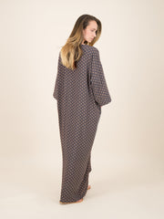 PATTERNED CAFTAN DRESS