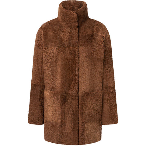 WERNER CHRIST REVERSIBLE COAT TOBACCO, FAIR, HANDMADE-the wearness