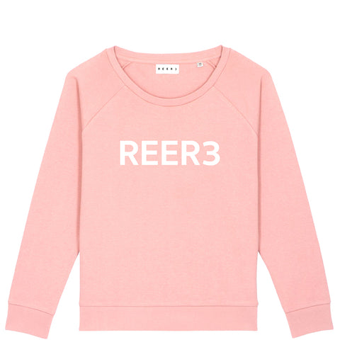 REER3 Sweatshirt, Damen, pink, rosa Pullover, nachhaltiger Pullover, Sweatshirt aus Biobaumwolle, Raglan Sweater, vegane Sweatshirts, nachhaltige Basics, nachhaltige Damenmode, faire Mode, faire Sportswear, vegane Basics, vegane Unisex Mode, eco-friendly, organic, fair trade, female empowerment, vegan, recycled, shop now- the wearness onlineshop
