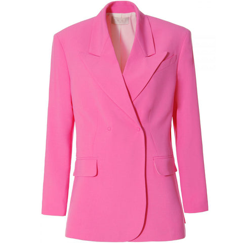 AGGI Oversized rosa Blazer für Frauen | Jacke, fair, made in Europe, handgefertigt