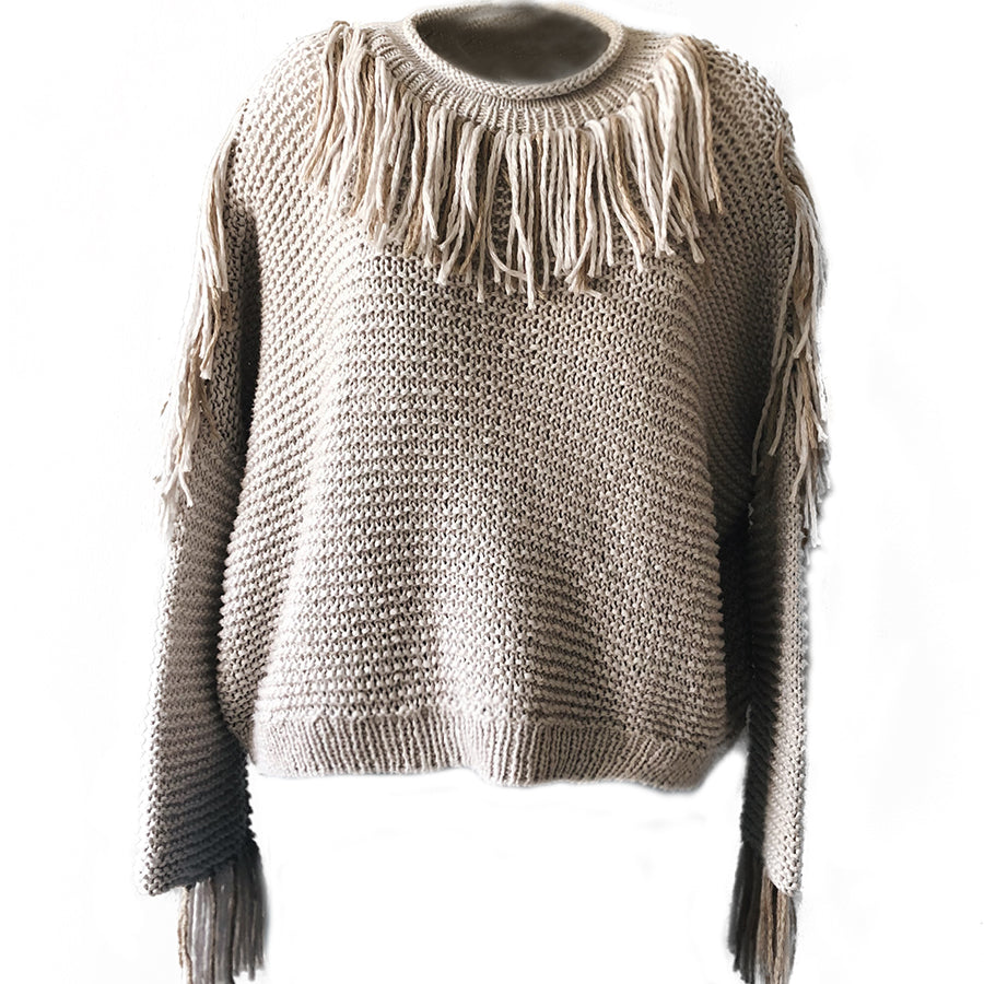 KNITTED COTTON SWEATER
