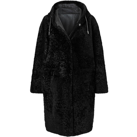 WERNER CHRIST REVERSIBLE PARKA BLACK, WOMEN, HANDMADE-the wearness