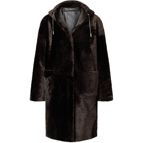 WERNER CHRIST REVERSIBLE PARKA CHOCOLATE, WOMEN, HANDMADE-the wearness