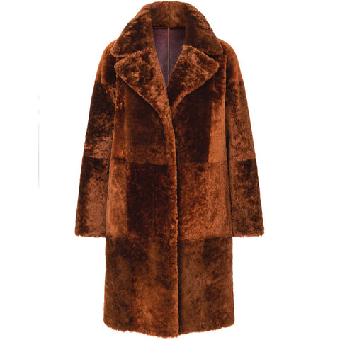 WERNER CHRIST REVERSIBLE COAT IN CHESTNUT, FAIR, HANDMADE-the wearness