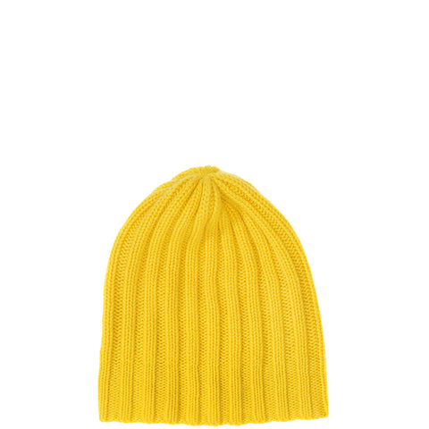 PETIT CALIN: BEANIE IN YELLOW FOR WOMEN, CASHMERE, FAIR - the wearness
