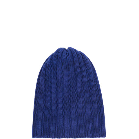 PETIT CALIN: BEANIE IN BLUE FOR WOMEN, CASHMERE, RIPPED-the wearness