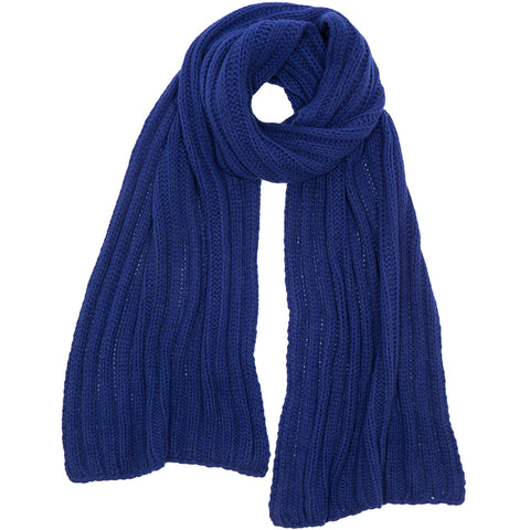 PETIT CALIN: SCARF IN BLUE, CASHMERE, RIPPED, HANDMADE-the wearness