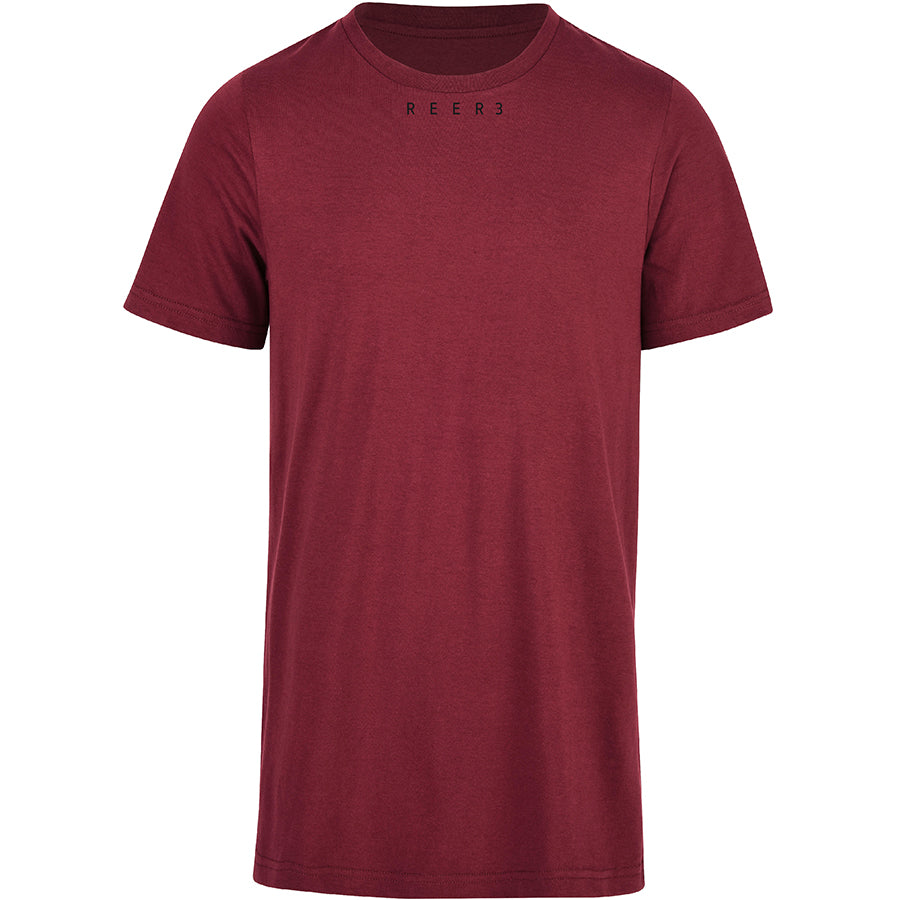REER3 Basic T-Shirt aus Bio-Baumwolle in weinrot für Damen und Herren, unisex, eco-friendly, organic, vegan, fair - the wearness online-shop