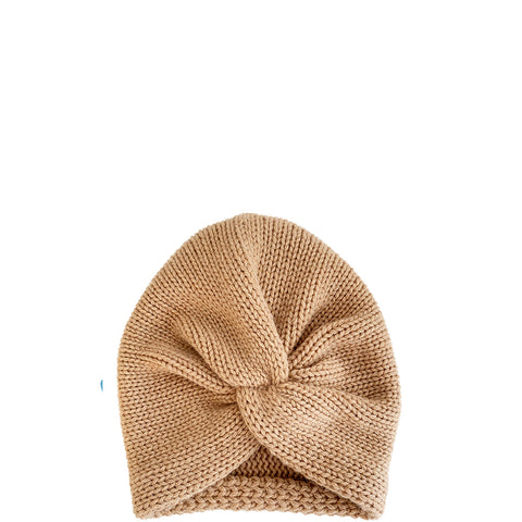 PETIT CALIN: TURBAN IN CAMEL FOR WOMEN, CASHMERE, FAIR - the wearness
