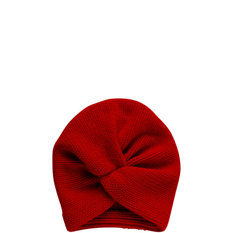 PETIT CALIN: TURBAN IN RUBY RED FOR WOMEN, CASHMERE, FAIR - the wearness