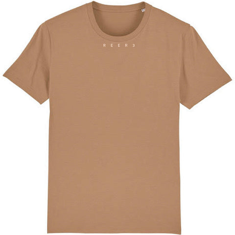 REER3 T-Shirt, camel, beige, Damen, Mann, unisex, unisex T-Shirts, nachhaltige Basics, T-Shirt aus Biobaumwolle, organic shirt men, Männermoden, nachhaltige Männermode, beige, camel  T-shirt, faire Mänermode, faire Sportswear, vegane Basics, vegane Unisex Mode, eco-friendly, organic, fair trade, female empowerment, vegan, recycled, shop now- the wearness onlineshop