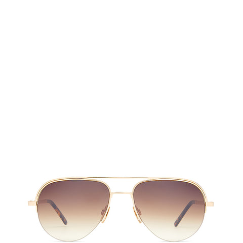 VIU EYEWEAR Sonnenbrille/ Pilotenbrille in Gold mit getönten Gläsern aus Titan für Damen, handmade, fair, made in Europe - the wearness online-shop