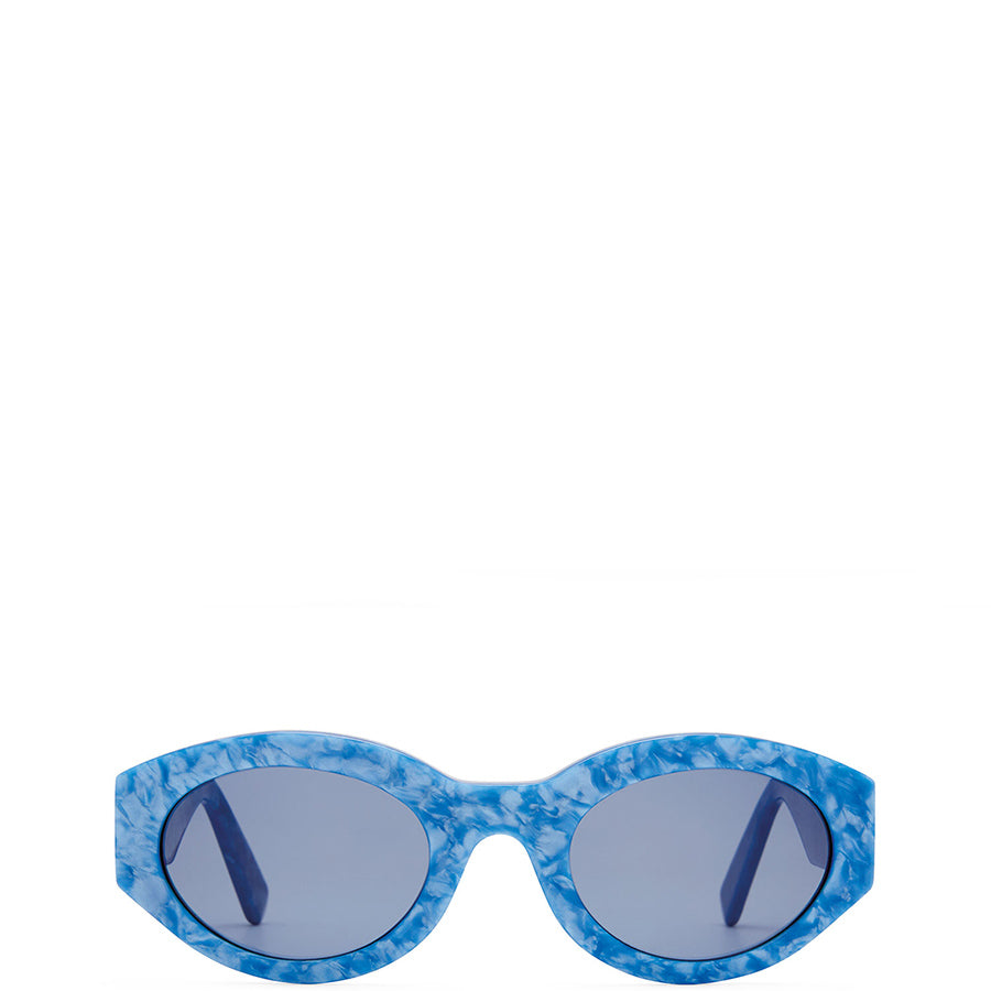 VIU EYEWEAR Blau gemusterte Acetate Sonnenbrille für Damen, handmade, fair, made in Europe - the wearness online-shop