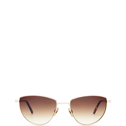 VIU EYEWEAR Sonnenbrille in Gold, UV-Schutz, Sunglasses, Eyewear, Accessoires, Made in Europe, fair, fair trade, handmade, handcrafted - FAIR & SUSTAINABLE LUXURY FASHION - Shop now - the wearness online-shop