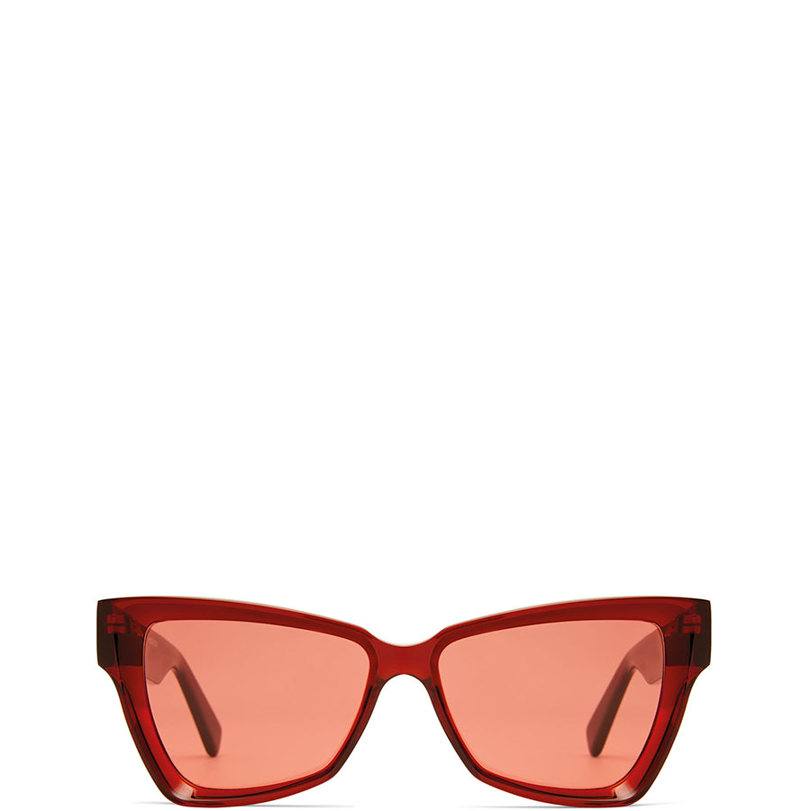 VIU EYEWEAR Rote Acetate Sonnenbrille für Damen, handmade, fair, made in Europe - the wearness online-shop