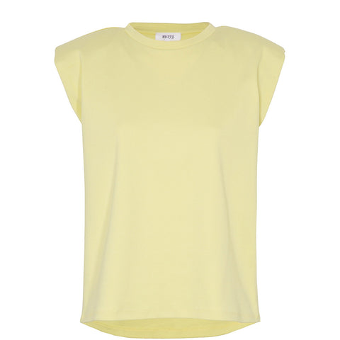 YELLOW ORGANIC COTTON SHIRT WITH PAD SILHOUETTE