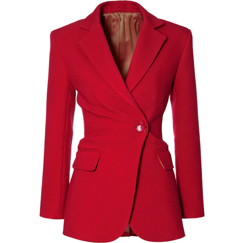 AGGI Taillierter Blazer in Rot, Business Style, Blazer, Women clothing, made in Europe, Eco-friendly, fair, fair trade - shop now - the wearness online-shop - Sustainable and Ethical Luxury Fashion