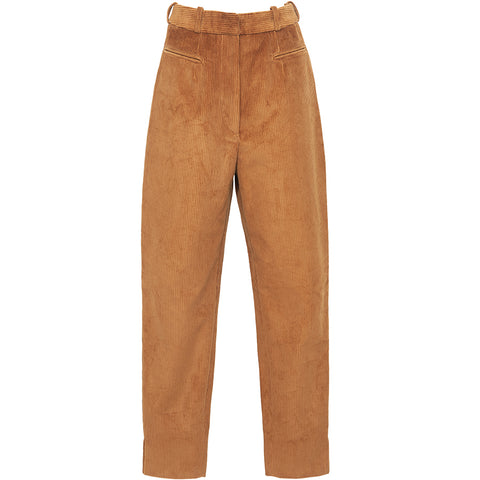 HELLO'BEN High-waisted Kordhose, Braune Kordhose für Damen, Damenhosen, Nachhaltige Mode, Sustainable Fashion, Fair tade, Organic, Handmade, Made in Europe - Shop now - ETHICAL LUXURY FASHION - NACHHALTIGE LUXUSMODE - the wearness online-shop