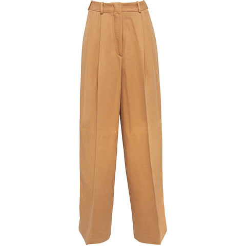 HELLO'BEN High-waisted Tencel Hose in senfgelb, Damenhosen, Nachhaltige Mode, Sustainable Fashion, Fair tade, Organic, Handmade, Made in Europe - Shop now - ETHICAL LUXURY FASHION - NACHHALTIGE LUXUSMODE - the wearness online-shop