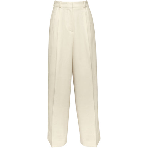 HELLO'BEN High-waisted Wollhose in off-white, Damenhosen, Nachhaltige Mode, Sustainable Fashion, Fair tade, Organic, Handmade, Made in Europe - Shop now - ETHICAL LUXURY FASHION - NACHHALTIGE LUXUSMODE - the wearness online-shop
